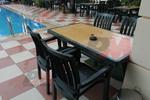 Градинска маса за лятно заведение, произведена от пластмаса