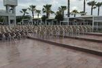 Столове от алуминии за хотел за външно ползване