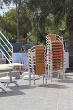 Алуминиеви столове за лятно заведение за открито
