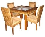 Богатство от изпълнения на ратанова мебел за заведение за бързо хранене Пловдив