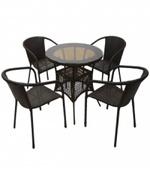 Ратанова мебел в тъмни цветове за стилно пространство Пловдив