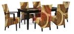 Универсални мебели от ратан за всесезонно използване във вегетарианскоо заведение Пловдив