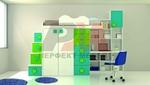 Дизайнерски двуетажни мебели за деца София