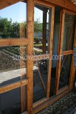 луксозна дървена плъзгаща се врата