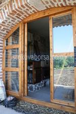 монтиране на луксозна дървена плъзгаща се врата
