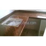 мраморной отделкой в пользовательских столешницы кухни