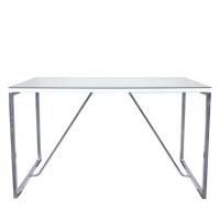Трапезни маси - Стъклена трапезна маса - JULIA - бяло