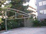 напрегната мембранна конструкция за паркинг