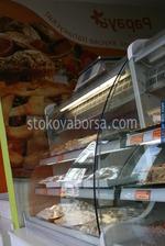 Изработка на хладилни витрини с извито стъкло за торти