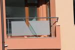 парапети за тераси от инокс и матово стъкло по поръчка