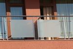 терасни парапети от инокс и матово стъкло