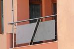 балконски парапети от инокс и мат стъкло по поръчка