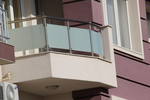 парапет за тераса от инокс и матово стъкло