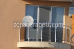 парапети за тераси от инокс и кафяво стъкло по поръчка