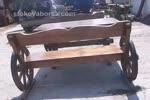 Битова дървена маса с дървени пейки по поръчка