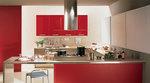 гланцови кухни в червен цвят