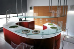 интериори за мебели с извити врати