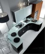 интериори на луксозни заоблени мебели