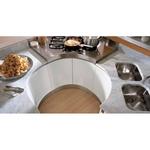 матови лукс кухни с овални форми