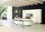 матови дизайнерски извити кухни