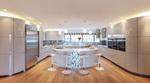 интериори на заоблени кухни луксозен дизайн
