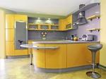 луксозни обли кухни в ярки цветове