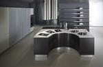 дизайни на кръгли кухни с вградени уреди