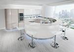 матови кръгли кухни с вградени уреди
