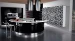 матови заоблени кухни лукс в бяло и черно