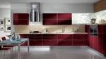мдф гланц кухни в червен цвят