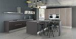 интериори за кухни в сив цвят