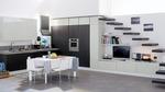 лукс кухни в бяло и черно по проект