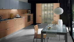 Кухня разположена на две стени