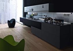 Луксозна кухня в сиво и черно