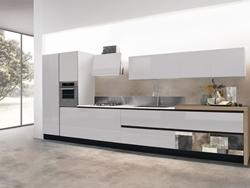 Луксозна права кухня с клапващи врати