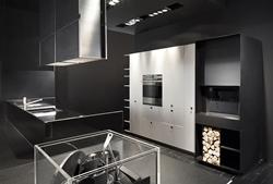 Луксозна кухня бяло и черно