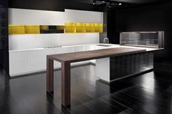 Кухня МДФ и фурнир в три цвята