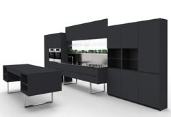 Луксозна черна кухня