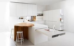 Луксозна кухня бял гланц