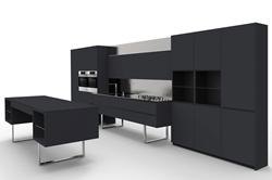 Модерна кухня в черно