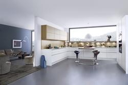 кухня мдф бял гланц