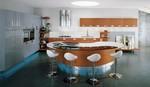 кръгли кухни мдф гланц